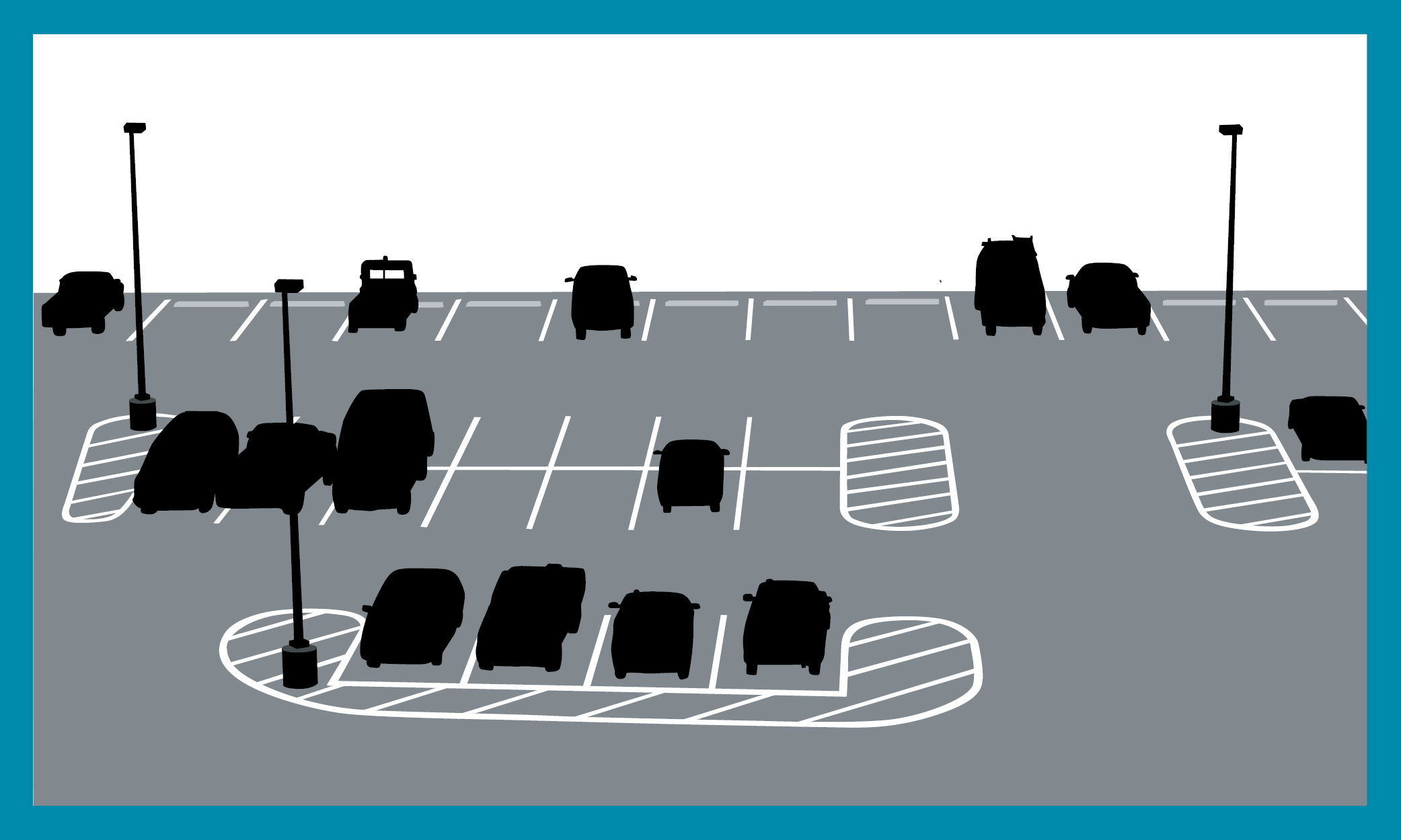 Graphic of a parking lot