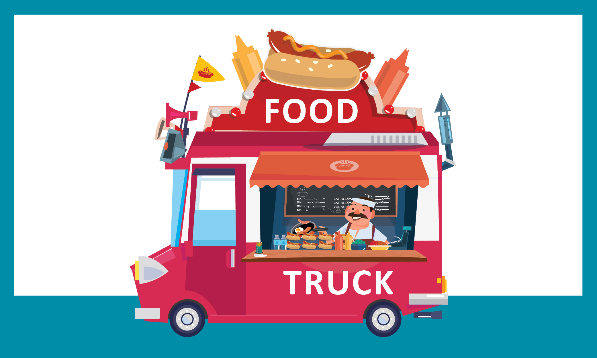 Graphic of a food truck