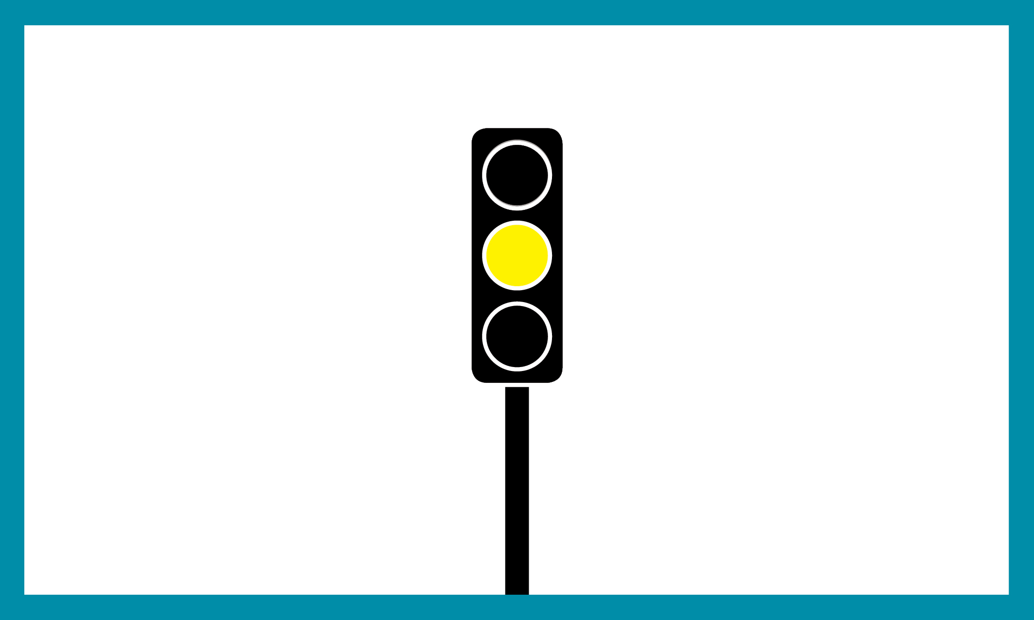 Graphic of a traffic light