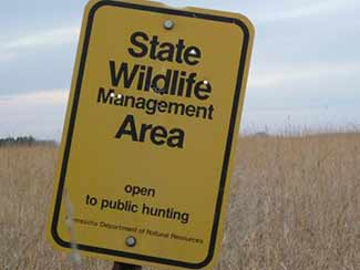 Yellow Wildlife Management Area sign