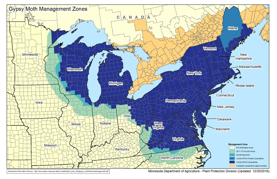 2017 gypsy moth management zones