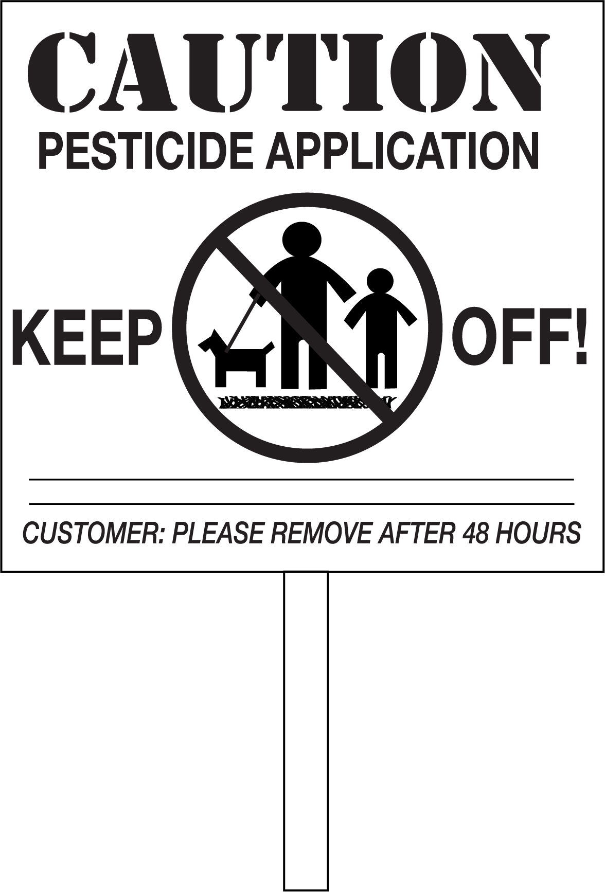 Warning Signs For Applying Pesticide To Turf Minnesota Department