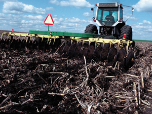 Conservation tillage. Photo courtesy of USDA Natural Resources Conservation Service.