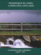 Cover of report entitled Phosphorous in Lawns, Landscapes and Lakes